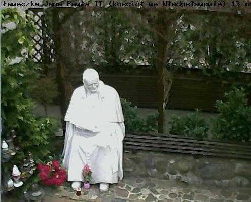 Ławeczka Jana Pawła II - Władysławowo