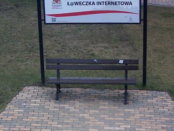 Ławeczka internetowa - Gdańsk
