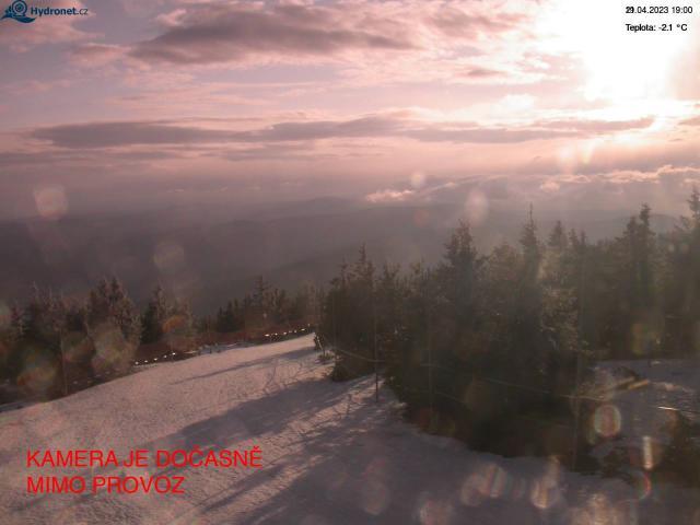 Łysa Góra - zachód - Rokytnice nad Jizerou