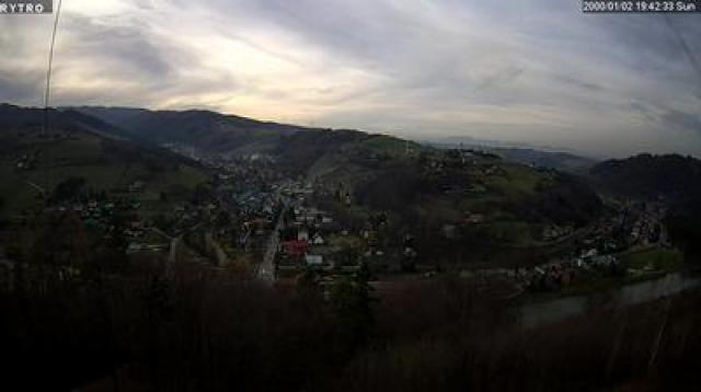 Panorama ze Wzgórza Zamkowego - Rytro